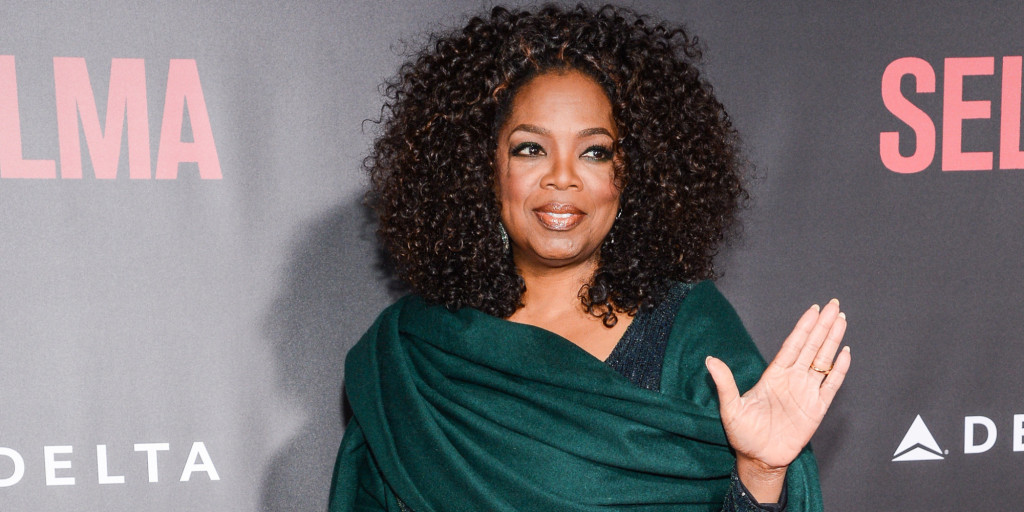 "NEW YORK, NY - DECEMBER 14: Actress Oprah Winfrey enters the ""Selma"" New York Premiere at the Ziegfeld Theater on December 14, 2014 in New York City. (Photo by Ray Tamarra/Getty Images)"